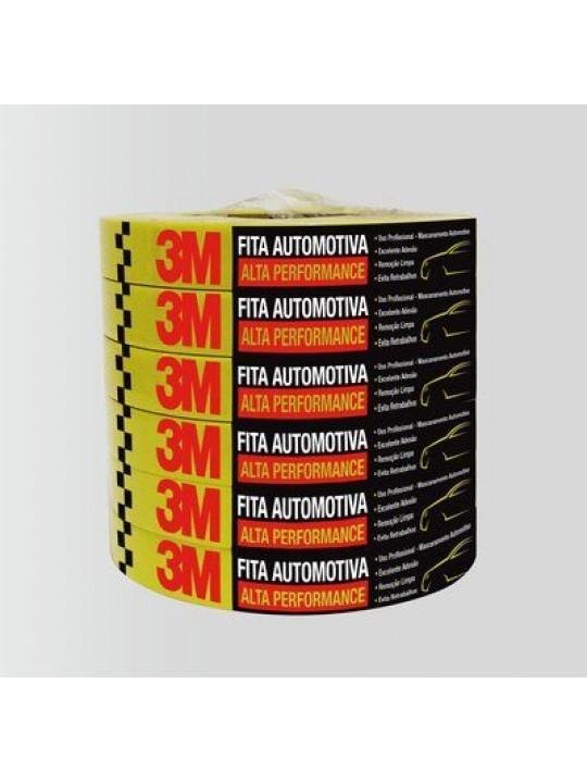 FITA CREPE 3M AMARELA -24MM X 40MT- AUTOMOTIVA - ALTA PERFORMANCE